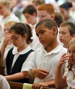 children at mass