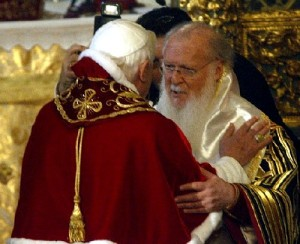 Pope Benedict with Ecumenical Patriarch