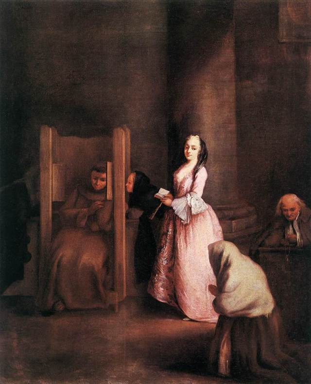 The Confession by Pietro Longhi