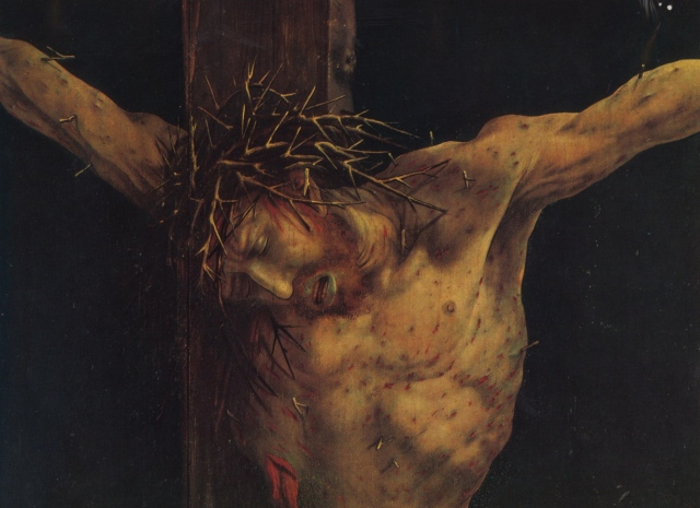Detail from the Crucifixion by Matthias Grünewald