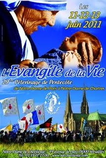 "2011 Chartres Pilgrimage theme ""The Gospel of Life"""