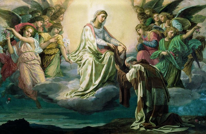 Saint Simon Stock and the Scapular of Our Lady of Mount Carmel