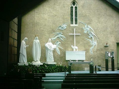 The Vision At Knock Symbol Of The Holy Eucharist And The Rosary