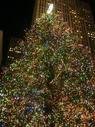 Rockefeller Center's gigantic Christmas tree
