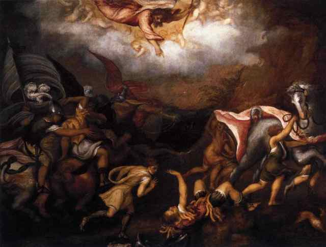 Conversion of St Paul by Andrea Schiavone