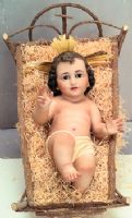 Handcrafted Baby Jesus statue, made in Spain
