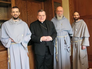 Cardinal Raymond Burke has been a firm advocate of the Franciscan Friars of the Immaculate in the past