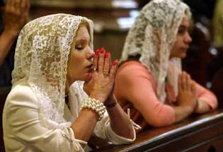 Why Women Wear Mantillas In Church