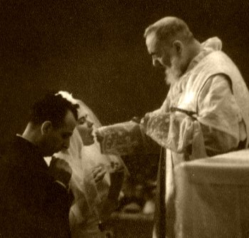 Padre Pio celebrating Holy Matrimony