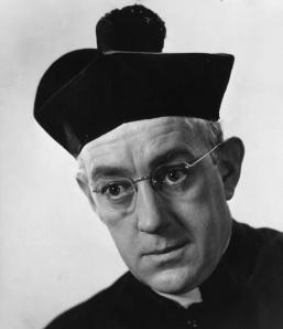 "Alec Guinness in his role as ""Father Brown"""