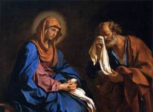 Our Lady of Sorrows on Holy Saturday with the penitent St. Peter.