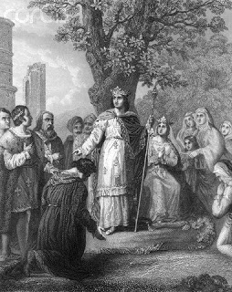 St louis IX attending his subjects