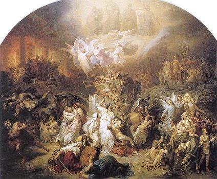 The Destruction of Jerusalem by Titus, Kaulbach 1846