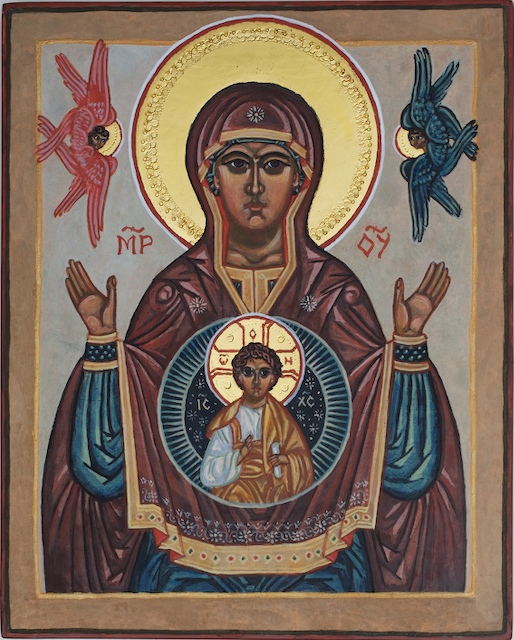 """Byzantine icon - """"Our Lady of the Sign"""""""