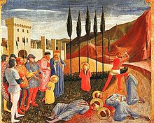 The martyrdom of Saints Cosmas and Damian by Fra Angelico (Musée du Louvre, Paris