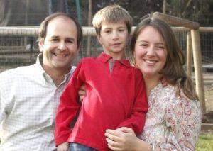 José Ignacio Ureta Wilson with his parents