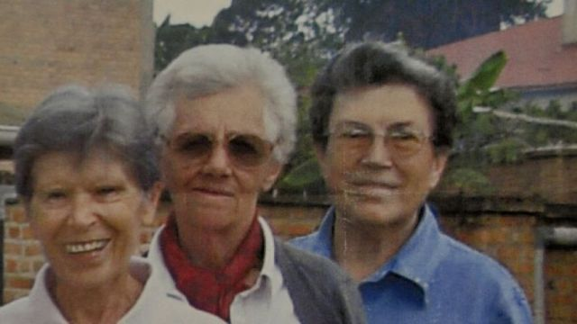Undated photo released by Saverian missionaries of the three Italian missionary nuns, from left, Bernardetta Boggian, Olga Raschietti and Lucia Pulici, found slain in their convent in Burundi.