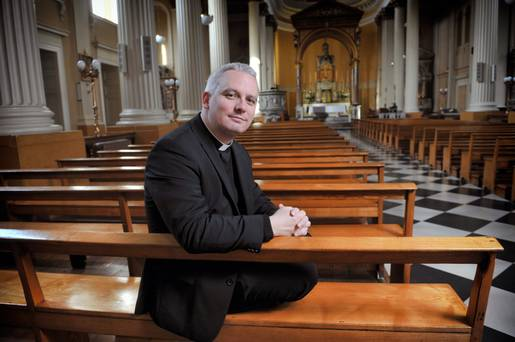 Strong belief: Fr David Barrins in St Mary's Church, Pope's Quay, Cork City.