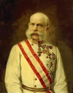 Kaiser (Emperor and Caesar) Francis Joseph I of Austria-Hungary,  the central Catholic Empire of Europe and successor of the Holy Roman Empire