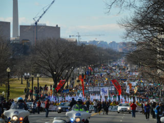 March for Life participants in Washington, DC Jan. 22, 2015. Credit: Addie Mena / CNA.