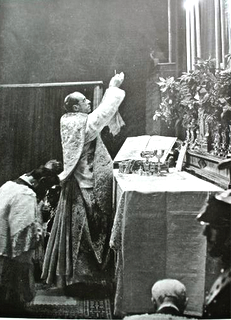 Pope Pius XII celebrating Mass in the Sistine Chapel