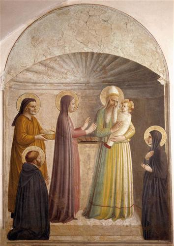 Presentation of the Lord Jesus in the Temple -Fra Angelico 1440