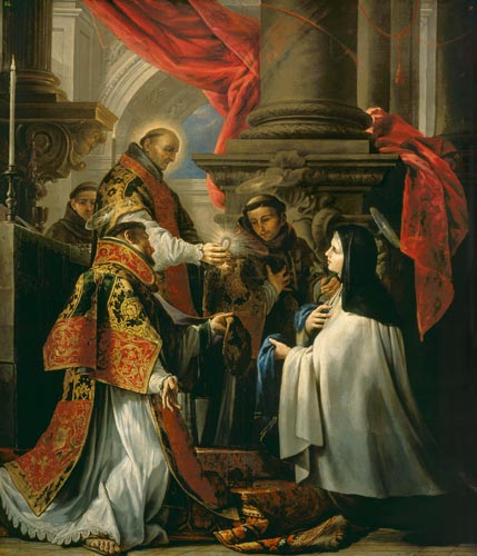 Juan Martin Cabezalero, The Communion of Saint Teresa, Museo Lazaro Galdiano, Madrid