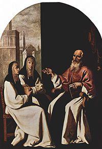 Saint Jerome with Saint Paula and Saint Eustochium (painting of Francisco de Zurbarán.