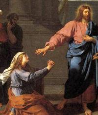 Christ and the Canaanite Woman (detail), Germain-Jean Drouais c.1784