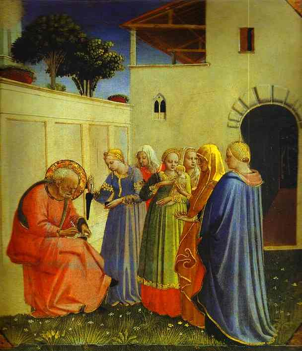 Naming of John (the Baptist) - Fra Angelico