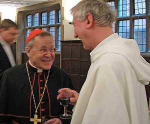 Cardinal Kasper and Timothy Radcliffe enjoying a moment together