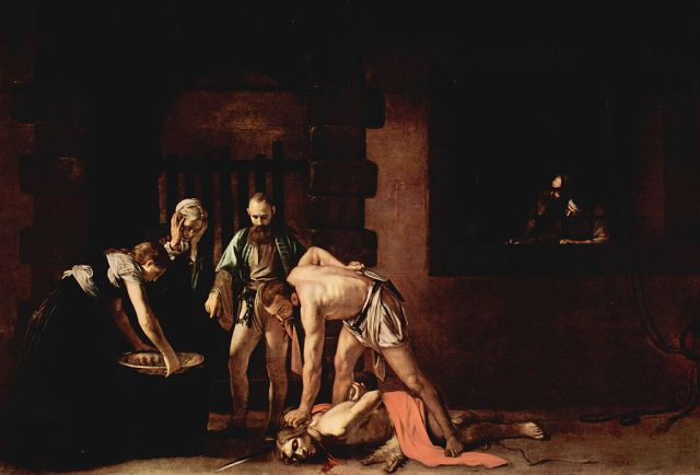 The Beheading of Saint John the Baptist  by Caravaggio