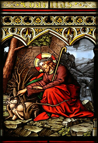 409px-Jesus_Rescuing_a_Lamb_Caught_in_Thorns