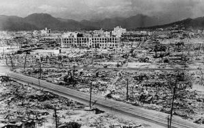 Hiroshima 70 years ago, after the atomic bomb was dropped