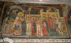 Fresco of the Presentation of the Virgin Mary from the Church of the Entrance of the Virgin Mary into the Temple, Skopje, Republic of Macedonia
