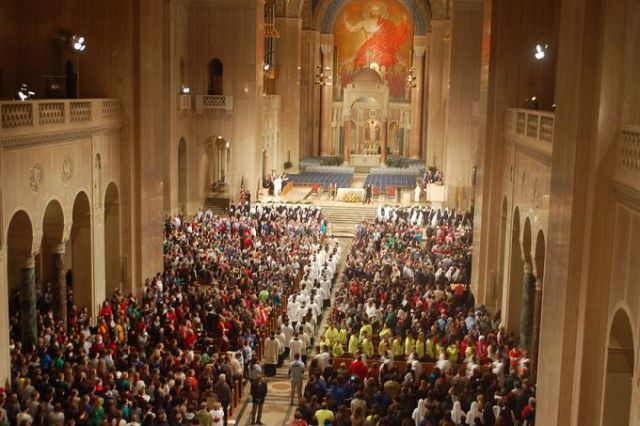 Opening Mass for the national prayer vigil for life. Basilica of the National Shrine of the Immaculate Conception.