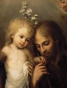St Joseph, paradigm of charity and chastity, with the Infant Jesus