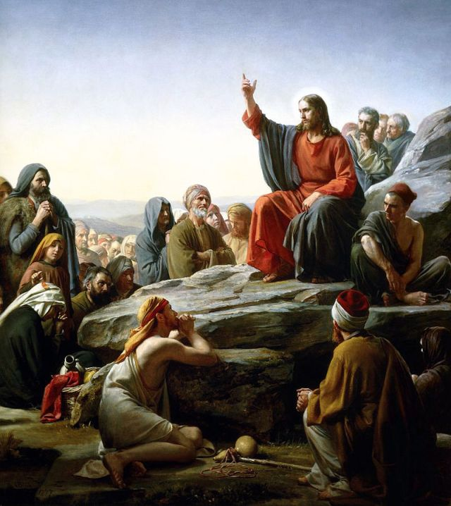 Sermon on the Mount by Carl Bloch
