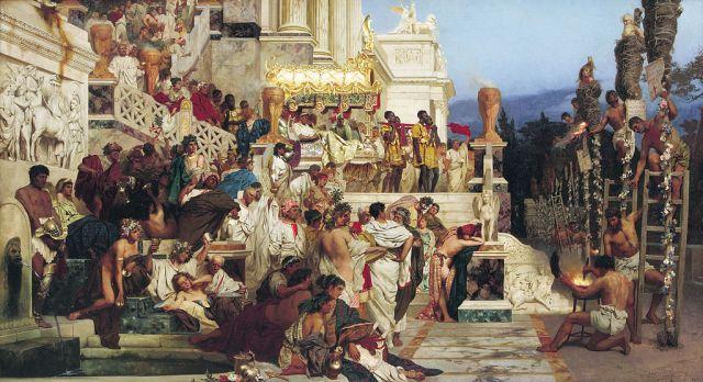 """""""Nero's torches"""", Henryk Siemiradski, 1876"""