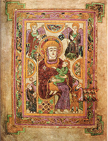 Folio 7 contains an image of the Virgin and Child. This is the oldest extant image of the Virgin Mary in a Western manuscript.