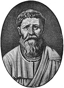 Saint Augustine of Hippo from a 19th-century engraving