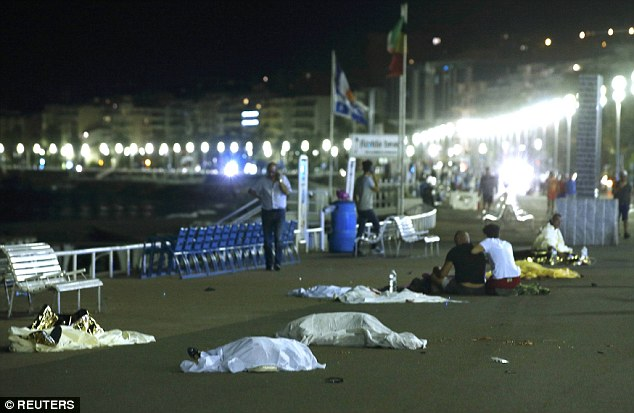 Aftermath of the terrorist attack on Promenade des Anglais