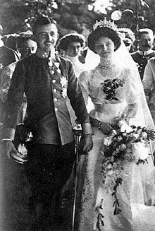 The wedding of Zita and Charles, 21 October 1911.