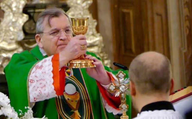 Cardinal Raymond Burke in Croatia, Oct. 23, 2016.