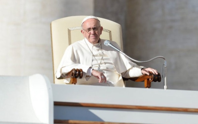 Pope Francis during his weekly general audience at St. Peter's Square on Wednesday (PA)