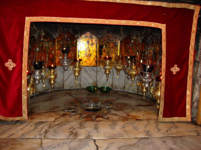 The hallowed spot of Our Lord's Birth in Bethlehem