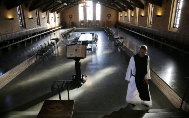 The Trappist St Joseph's Abbey, Massachusetts: 'Man must recognise his smallness' (AP)