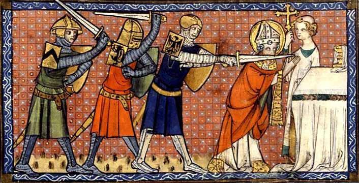 Thomas Becket Murdur in Canterbury Cathedral