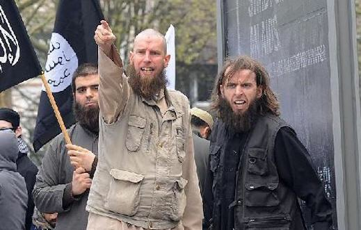 Salafist protestors in Germany