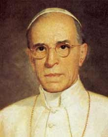 The Venerable Pope Pius XII (March 2, 1876 - October 9, 1958)